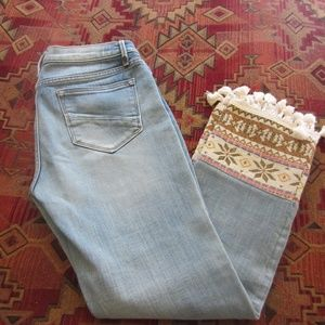 Driftwood Collette Fringed Cropped Jeans Size 28